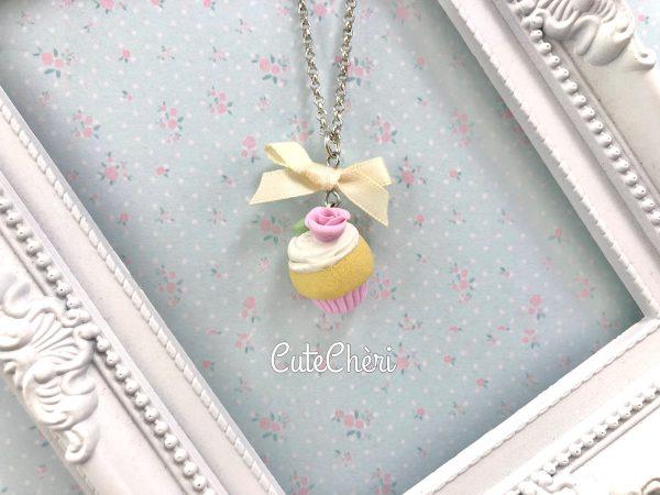 Collana Cupcake rosa