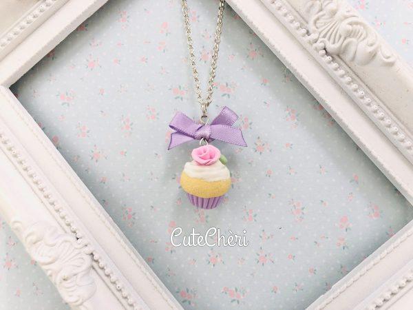Collana cupcake lilla