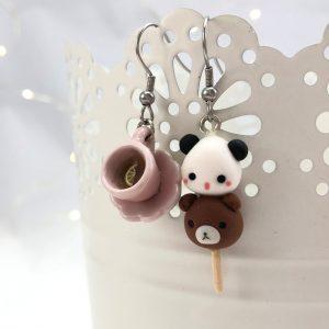 Kawaii panda bear dango