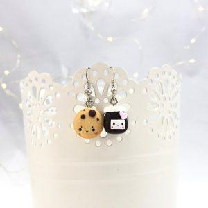 Kawaii nutella earrings kawaii earrings cookie