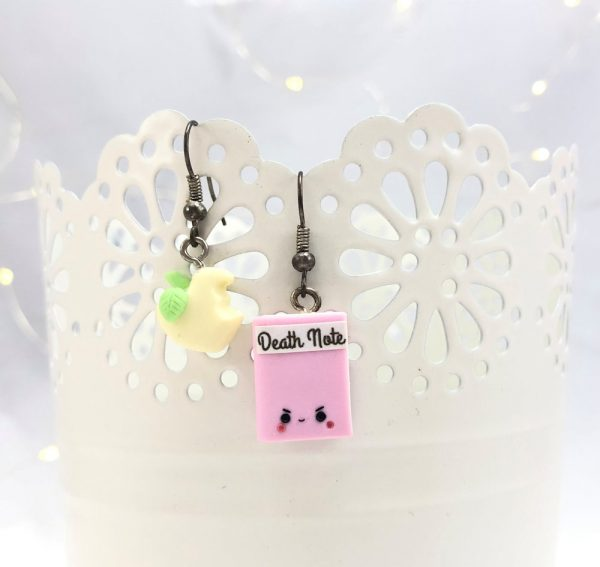 kawaii death note earrings
