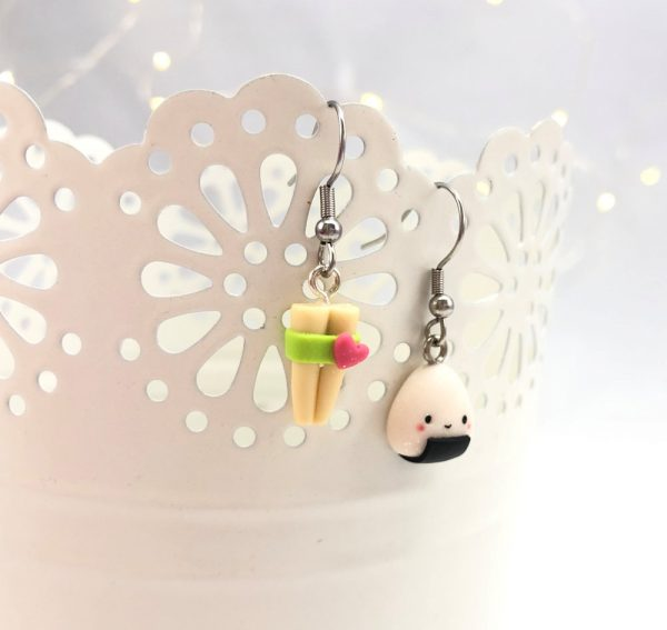 orecchini sushi kawaii earrings