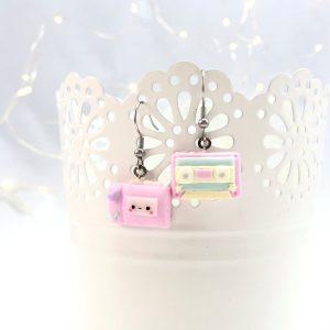 Kawaii earrings musicassetta e walkman